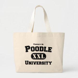 Propiedad de la universidad del caniche bolsa tela grande