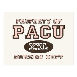 Propiedad de las postales de la enfermera de PACU