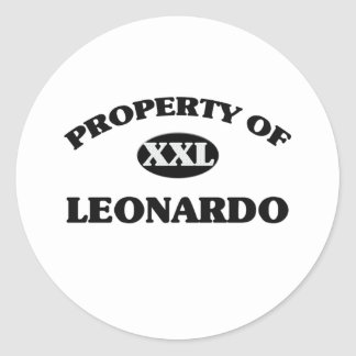 Propiedad de Leonardo Etiqueta Redonda