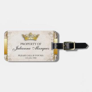 Propiedad de los derechos del vintage de la etiqueta de equipaje
