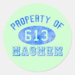 Propiedad de los pegatinas de Hashem Etiquetas Redondas