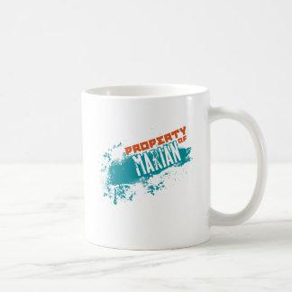 Propiedad de mariano taza de café