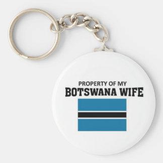 Propiedad de mi esposa de Botswana Llaveros Personalizados