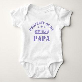 Propiedad de mi papá marina mameluco de bebé