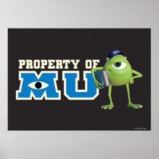 Propiedad de Mike de MU Posters