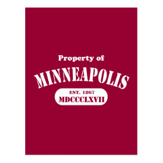 Propiedad de Minneapolis Tarjetas Postales