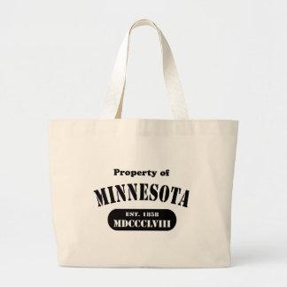 Propiedad de Minnesota - texto negro Bolsas