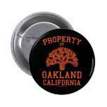 Propiedad de Oakland Pin Redondo 5 Cm