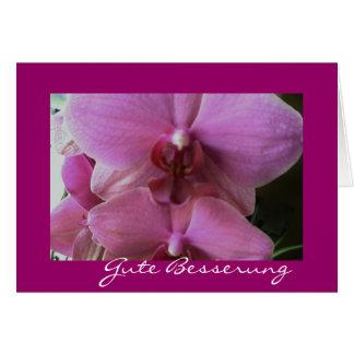 Propiedad de orquídea besserung tarjeta pequeña