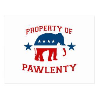 PROPIEDAD DE PAWLENTY POSTAL