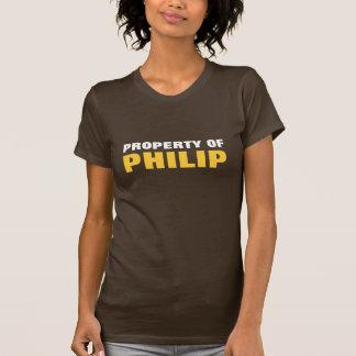 Propiedad de Philip Camiseta