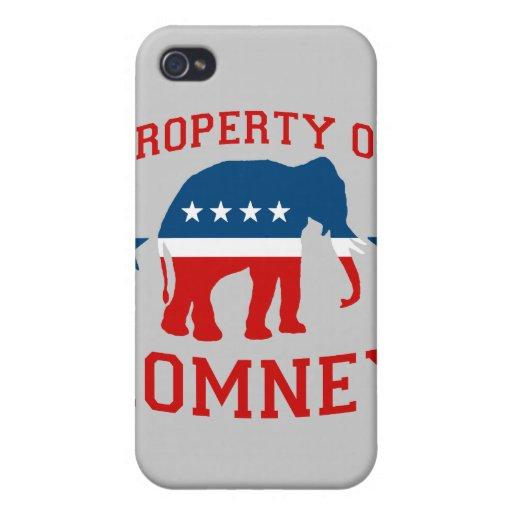 PROPIEDAD DE ROMNEY iPhone 4/4S FUNDAS