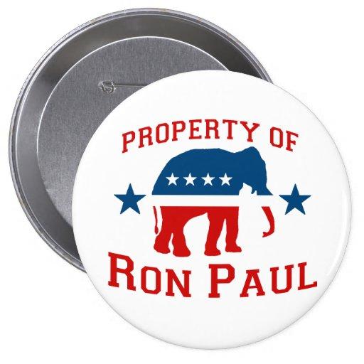 PROPIEDAD DE RON PAUL PIN REDONDO DE 4 PULGADAS
