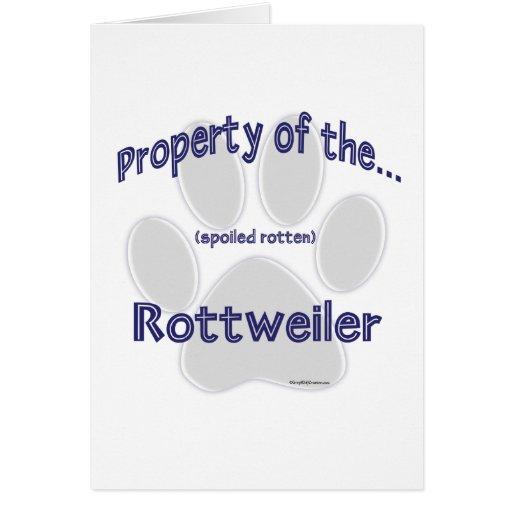 Propiedad de Rottweiler Felicitaciones