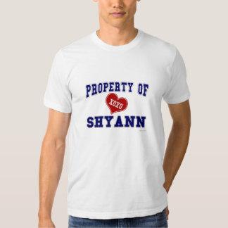 Propiedad de Shyann Playera