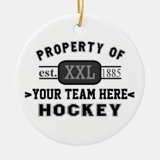 Propiedad de su hockey del equipo de deportes pers adorno para reyes