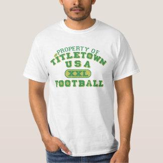 Propiedad de Titletown los E.E.U.U. XXL Football2 Playeras
