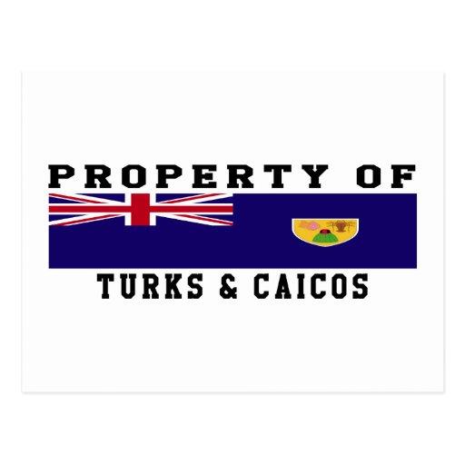 Propiedad de turcos y de las islas de Caicos Postales
