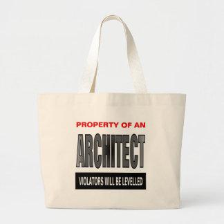 Propiedad de un arquitecto bolsa tela grande