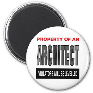 Propiedad de un arquitecto imán redondo 5 cm