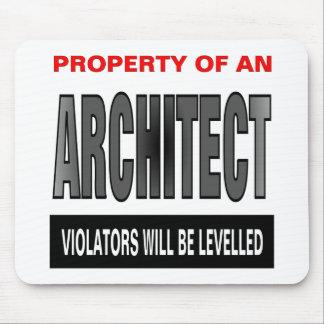 Propiedad de un arquitecto tapete de ratón