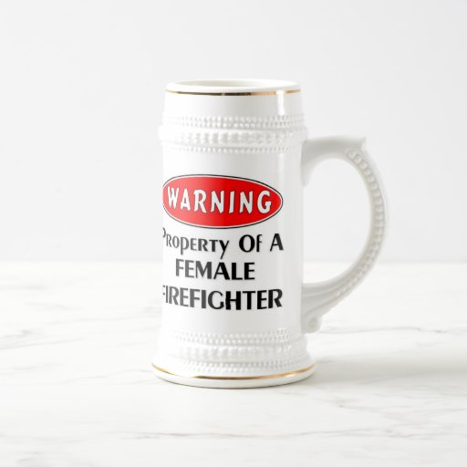Propiedad de un bombero de sexo femenino taza