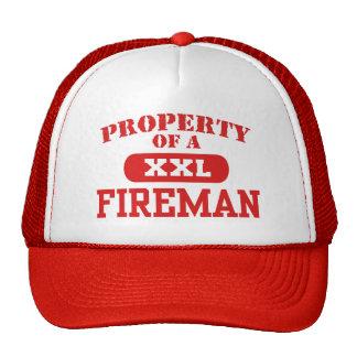 Propiedad de un bombero gorras de camionero
