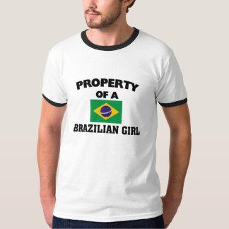 Propiedad de un chica brasileño playeras