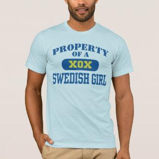 Propiedad de un chica sueco playera