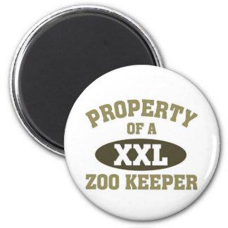 Propiedad de un encargado de parque zoológico imán redondo 5 cm