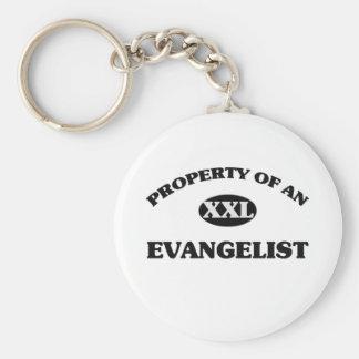 Propiedad de un EVANGELISTA Llavero Personalizado