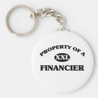 Propiedad de un FINANCIERO Llaveros Personalizados