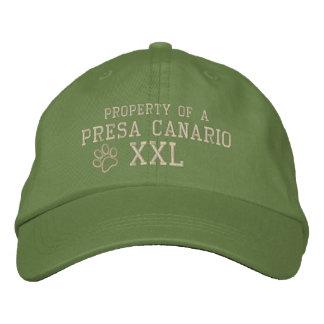 Propiedad de un gorra bordado Canario de Presa Gorras Bordadas