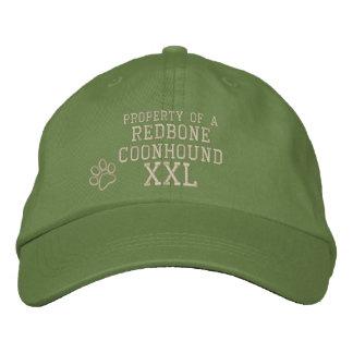 Propiedad de un gorra bordado Coonhound de Redbone Gorra Bordada