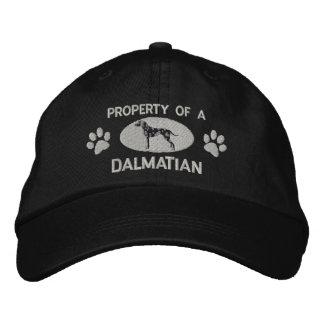 Propiedad de un gorra bordado Dalmatian Gorro Bordado