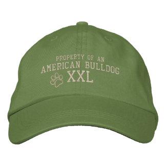 Propiedad de un gorra bordado dogo americano gorra de béisbol bordada