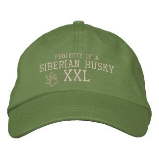 Propiedad de un gorra bordado husky siberiano gorra de beisbol