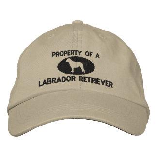 Propiedad de un gorra bordado labrador retriever gorras de beisbol bordadas