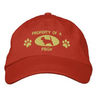 Propiedad de un gorra bordado PBGV (naranja) Gorras De Béisbol Bordadas