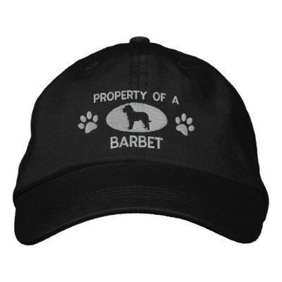 Propiedad de un gorra bordado perro de aguas (plat gorras de béisbol bordadas