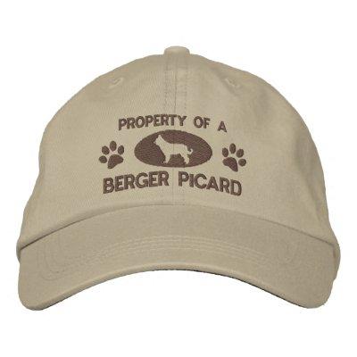 Propiedad de un gorra bordado Picard de Berger Gorra De Béisbol