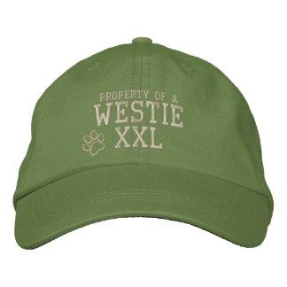 Propiedad de un gorra bordado Westie Gorras De Béisbol Bordadas