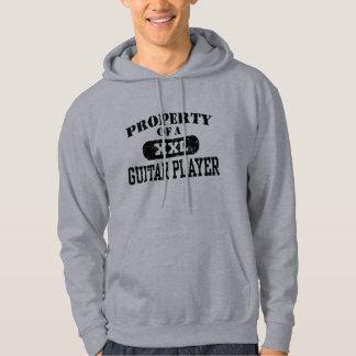 Propiedad de un guitarrista jersey encapuchado