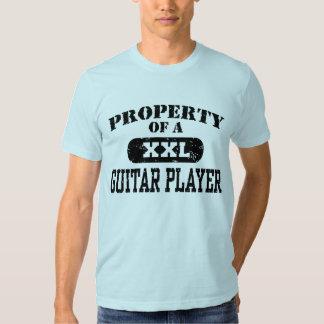 Propiedad de un guitarrista playera