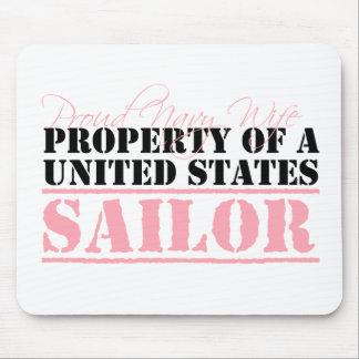 Propiedad de un marinero de Estados Unidos Tapete De Raton