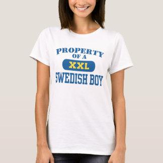 Propiedad de un muchacho sueco playera