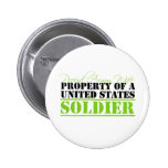 Propiedad de un soldado de Estados Unidos Pin