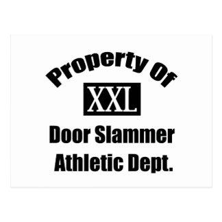 Propiedad de una puerta Slammer por Gear4gearheads Tarjeta Postal