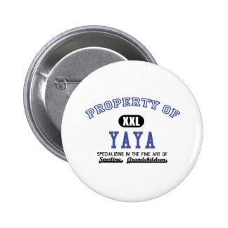 Propiedad de YaYa Pin Redondo De 2 Pulgadas