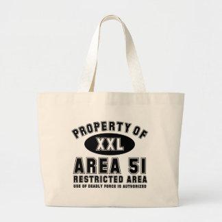Propiedad del área 51 bolsa tela grande